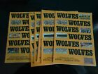 WOLVES WOLVERHAMPTON WANDERERS HOMES DIV 4 1987/88  homes £1.99 Each post free