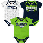NFL Infant Boy's Playmaker Bodysuit 3-Pack Set Newborn Baby Football NEW