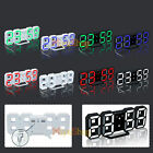 LED Table Desk Clock Watches 24 or 12 Hour Display Alarm Snooze Modern Digital