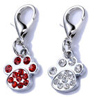 Rhinestones Dog Tags Crystal Paw Shaped Charms For Dog Colla
