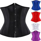 Bridal Sexy Waist Cincher Underbust Corset Wedding Lace up Boned Basques Waspie