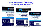Qualicare Sterile LOW ADHERENT DRESSINGS in 3 Sizes Absorbent pad First Aid