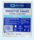 Paraffin Gauze Dressing. 10 x 10cm - For Burns, Scalds & Abrasions Pack of 10
