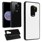For Samsung Galaxy S9 / S9 PLUS HARD Tempered Glass Back Hybrid Case Phone Cover