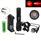 Tactical WF-502B 8000LM Red Q5 LED Clip Flashlight Torch+Remote Pressure Switch