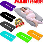 12ft Plain Dyed U Pillow Pregnancy Maternity Body Back Support Pillow Case