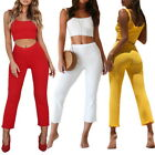 2pc Women Rompers Off Shoulder Jumpsuit Streetwear Summer Short Overal Set
