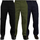 Mens New Elasticated Waist Fleece Lined Rugby Trousers Winter Smart Work Pants