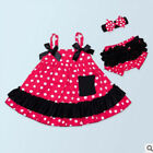 Summer Wear Wave Dot Wave Girl Bow Tie Skirt Baby Suit New Baby Fashion F0172