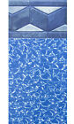 Aboveground Oval Meadow Swimming Pool w/ Unibead Liner, Skimmer (Choose Pattern)