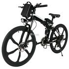 ANCHEER 26inch 36V Foldable Electric Power Mountain Bicycle with Head Light/