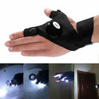 LED Flashlight Cycling Finger Gloves for Outdoor Fishing Camping Repairing Work