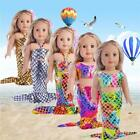 Внешний вид - Mermaid Tail Dress Set For American Girl 18 inch Doll Clothes Costume J