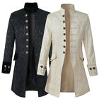 Retro Mens Gothic Brocade Jacket Frock Coat Steampunk VTG Victorian Coat Outwear