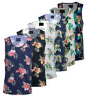 Mens Hawaiian Fashion Floral Vest Casual Cotton Summer Top S-XXL