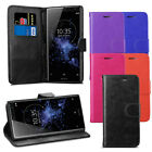 For Sony Xperia XZ2 Case - Premium Leather Wallet Flip Case Cover + Protector