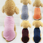 Pet Dog Cotton Clothes 5 Pure Color Dog Vest Shirt Spring Summer Clothes XS-XXL