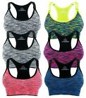 adjustable sports bra - Sports Bras Racerback Yoga Adjustable Straps Removable Pads Seamless High Impact