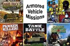 Tank & Armored Vehicle Missions Games PC Windows XP Vista 7 8 10 Sealed New