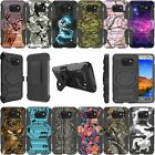 For Samsung Galaxy S7 SM-G930 Dual Layer Kickstand & Holster Combo Case - Camo
