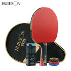 Внешний вид - Huieson Carbon Fiber Rubber Table Tennis Racket Ping Pong Paddle + 3 Ball + Bag