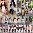 Toddler Kids Baby Girls Outfits Clothes T-shirt Tops+Pants/J