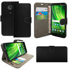 For Motorola Moto G6 Play - Luxury Leather Wallet Flip Case Cover Card Stand <br/> Also compatible with Motorola Moto E5