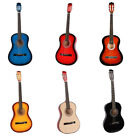 """New  Mulit -Colors Superior 38"""" Acoustic Guitar Black Natural Blue Red Yellow"""