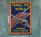 Vintage Travel Poster Travel the World #1 [6 sizes, matte+glossy avail]