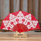 Lace Silk Folding Hand Held Flower Fan Chinese/Spanish Dance Wedding Party Gift