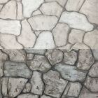 P&S International Vintage Slated Stone Wall Effect Cottage Embossed Wallpaper