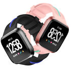 Stripes Replacement Wrist Band Strap Bracelet+Metal Watch Clasp For Fitbit Versa