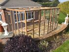 Catio / Cat Lean to 12ft x 8ft x 8ft tall with ladders and shelves secure run