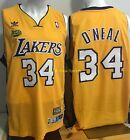 SHAQUILLE O' NEAL Los Angeles Lakers 2001 FINALS Gold THROWBACK Swingman Jersey on eBay