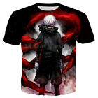 tee 3d - New Women Men Casual 3D T-Shirt Tokyo Ghoul Anime Print Short Sleeve Tops Tee