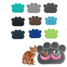 Paw Shape Dog Cat Litter Mat Puppy Kitty Dish Feed Bowl Tray Tidy Clean GIFT US