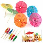 Mixed Paper Cocktail Umbrellas Parasol Tropical Party Drinks Accessory