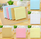 Pack 76x76mm 5 Colours Lined Sticky Memo Notes Pads 80 Sheets Eco Quality