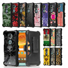 Rugged Case w/Tactical Stand+Holster Clip Cover for Moto E5 Plus E5 Suprae