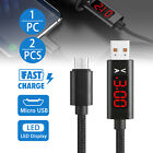 1/2X Voltage Current LED Display Micro USB Sync Fast Chargin