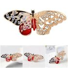 Vintage Fashion Multicolor Crystal Cute Butterfly Brooch Women Pin