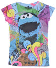 Cookie Monster T-Shirt Ages 6-10 Girls Sublimated Top Sesame Street Kids