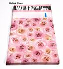 25 PINK ROSES DESIGNER 9x12 MAILER POLY BAGS MAILING PLASTIC BAGS Des: #19