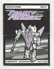Transformers G2 Instruction Manuals Booklets Parts & Accessories (PICK & CHOOSE)