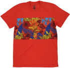 New & Rich Cut & Sew Flower Sublimated Men's T-Shirt Red  Style