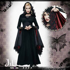 Goth aristocrat southern witch waist cincher hooded evening maxi dress【CT070】