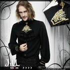Goth aristocrat imperial Louis gilded crest lantern sleeve dress shirt【SHT02301】