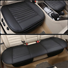 Black PU Leather Car Seat Cover Full Set Front Rear Seat Cushion Pads Protector $77.71 CAD on eBay