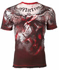 AFFLICTION Mens T-Shirt UPWARD Angel Wings RED Tattoo Motorcycle Biker UFC $63 image