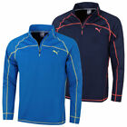 Puma Golf Mens Embossed 1/4 Zip WarmCell Popover Pullover 45% OFF RRP
